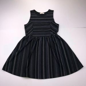 Elodie Women's Large Black Stripe Sleeveless Dress